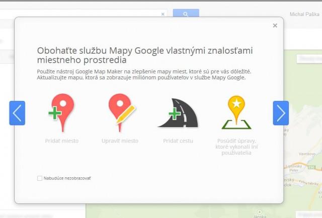 Vylepšite Google Mapy