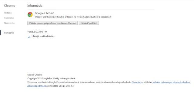 Google Chrome je v novej verzii