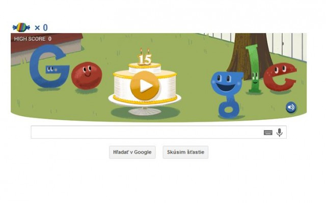 Google oslávil pätnáste narodeniny